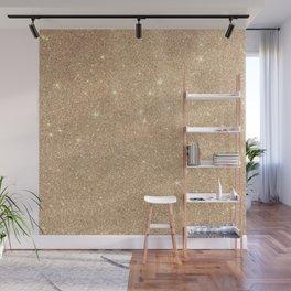 Gold Glitter Chic Glamorous Sparkles Wall Mural