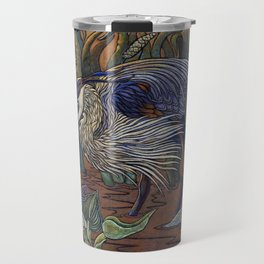 Great Blue Heron with Snapper Travel Mug