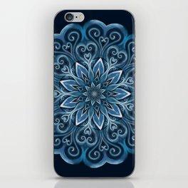 Blue Water Mandala Swirl iPhone Skin