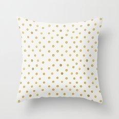 Gold Spots Throw Pillow