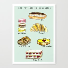 Des Patisseries Francais Canvas Print
