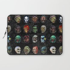 Horror Movie Monsters Masks (color) Laptop Sleeve