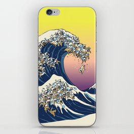 The Great Wave Of  Cat iPhone Skin