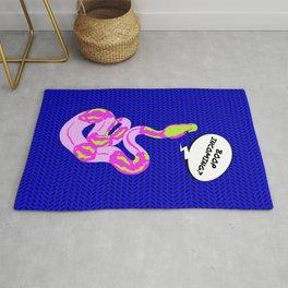 """Boop Incoming"" Bright Pop-Art Snake Illustration Rug"