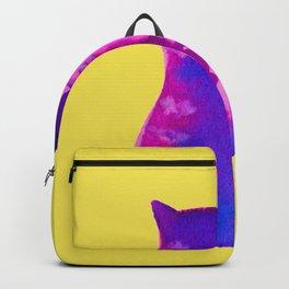 gato purpura Backpack