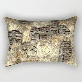 Medieval Wall of Wattle and Daub Rectangular Pillow