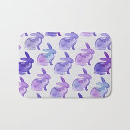 Watercolor Bunnies 1K by Kathy Morton Stanion Bath Mat
