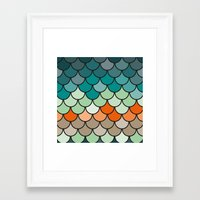 scales Framed Art Prints featuring Scales by Pattern Design