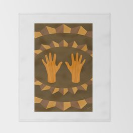 The ASL Marquetry - (ASL Marquetry Series) Throw Blanket