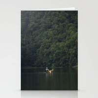rowing Stationery Cards featuring Rowing back home. by Nepal
