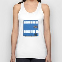 chelsea Tank Tops featuring Chelsea bus by Alberto Faria