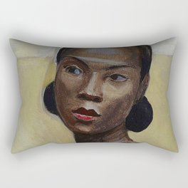 African American Masterpiece 'Portrait of a Black Woman' by Sergey Sudeikin  Rectangular Pillow
