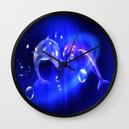 Delphine - dolphins Wall Clock