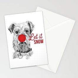 Let it Snow Dog Stationery Cards