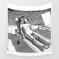 apollonia Wall Tapestries featuring asc 614 - Le blues de janvier (HIM)  Second version by From Apollonia with Love