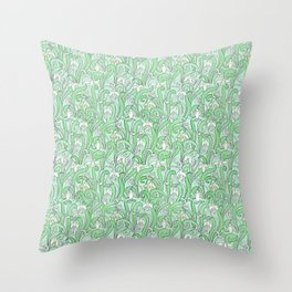 The disturbance of the spring 2 Throw Pillow