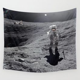 Apollo 16 - Plum Crater Wall Tapestry