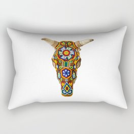Huichol Bull Skull Rectangular Pillow