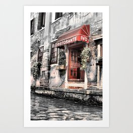 Ristorante on the Canal Art Print