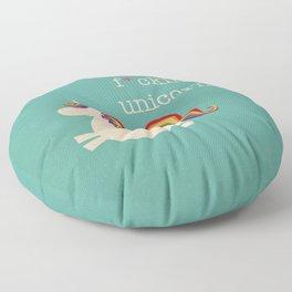Unicorn - I'm a maturely speaking unicorn!!! Floor Pillow