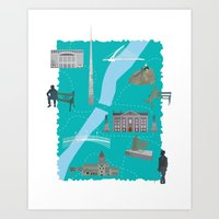 literary Art Prints featuring Literary Dublin by Arron Croasdell