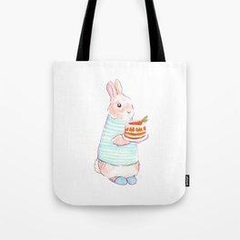 Carrot Cake Bunny Tote Bag