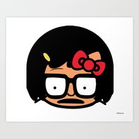 tina belcher Art Prints featuring Hello Tina by Hit_the_Marq