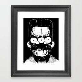Black Metal Religious Guy Framed Art Print