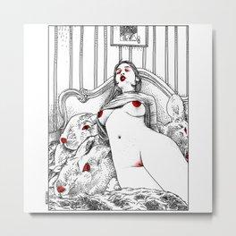 asc 486 - La fille cruelle (Alice in furs) Metal Print
