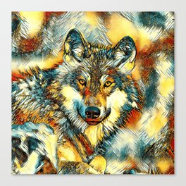 AnimalArt_Wolf_20170601_by_JAMColorsSpecial Canvas Print