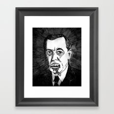 28. Zombie Woodrow Wilson  Framed Art Print
