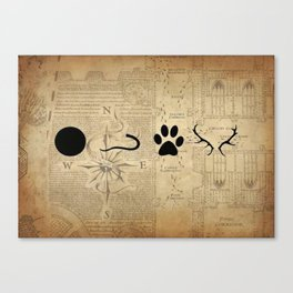 Moony, Wormtail, Padfoot and Prongs by Renatta Maniski-Luke Canvas Print
