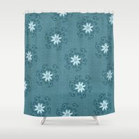 shiva Shower Curtains featuring Shiva by Brains Are Pretty - Caroline Okun