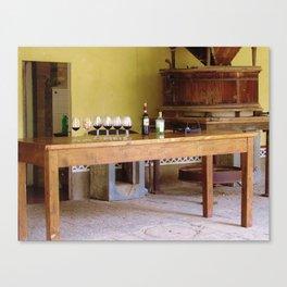 The Wine Tasting Canvas Print