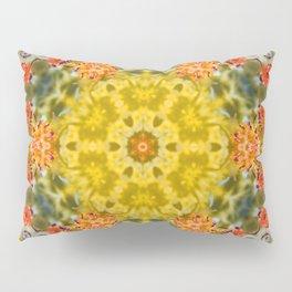 Marigold Kaleidoscope Photographic Pattern #2 Pillow Sham