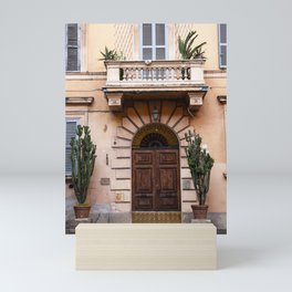 Cactus & Coral in Italy / travel photography Mini Art Print