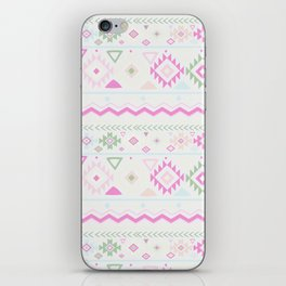 Blush Pink green geometrical aztec tribal iPhone Skin