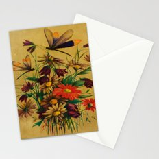 Stained Glass Dragonflies & Flowers Stationery Cards