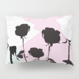Roses with ink Pillow Sham