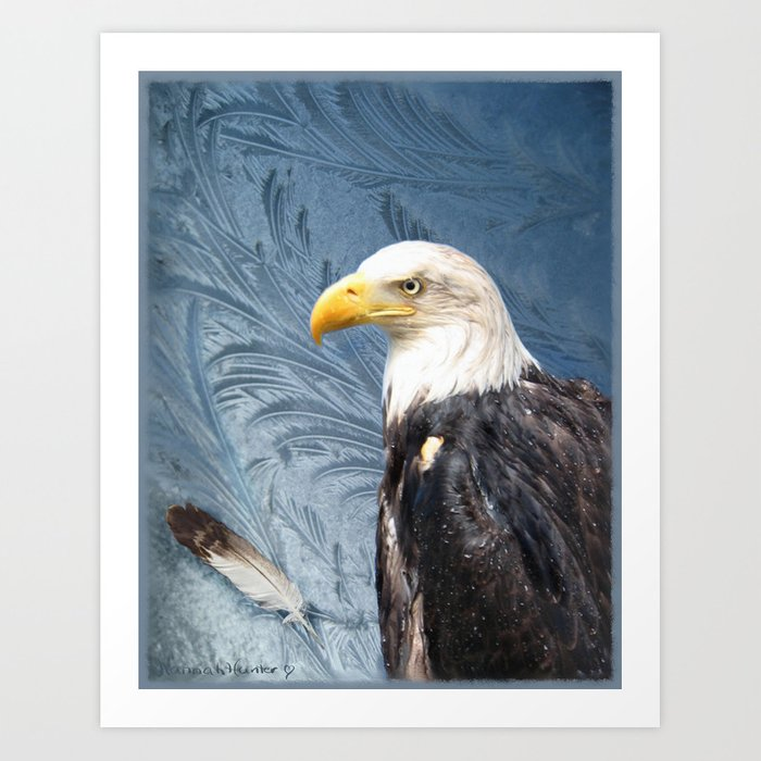 """Eagle in Alaskan Ice"" Art Print"