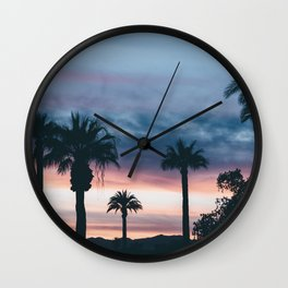 Palm Tree Sky Sunset Wall Clock