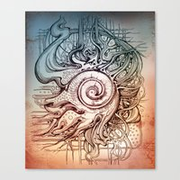 seashell Canvas Prints featuring Seashell by Irina Vinnik