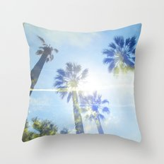 Faded Palms Throw Pillow