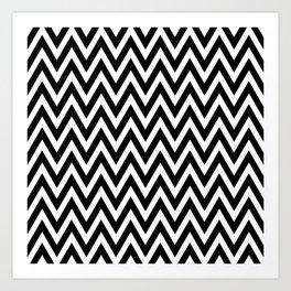 Dizzy Zig Zags Art Print