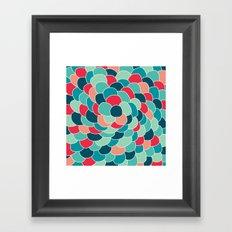 Petals (Aqua Red) Framed Art Print
