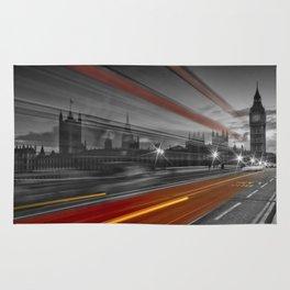 LONDON Westminster Bridge & Red Bus Rug