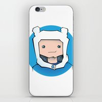 finn iPhone & iPod Skins featuring Finn by Shay Bromund