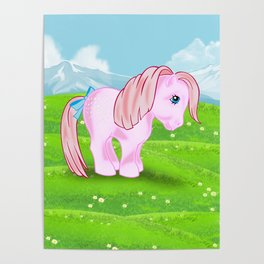 g1 my little pony Cotton Candy Poster