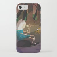 finn and jake iPhone & iPod Cases featuring Finn & Jake by modHero