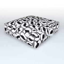 Leopard Print   black and white monochrome   Cheetah texture pattern Outdoor Floor Cushion